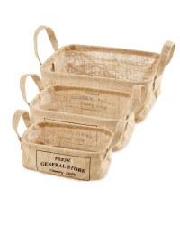 General Hessian Basket Set 3 Pack