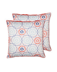 Geo Floral Outdoor Cushion 2 Pack