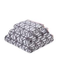 Geo Patterned Bath Towel Set