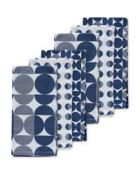 Geo Print Tea Towels 6 Pack