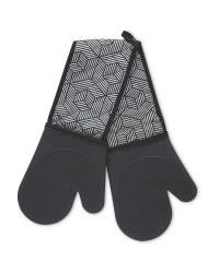 Black Silicone Double Oven Glove