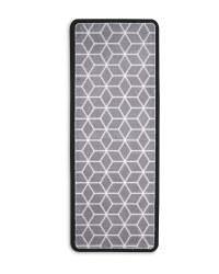 Geo Star Luxury Plush Runner - Grey/Black