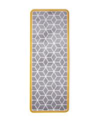 Geo Star Luxury Plush Runner - Grey/Mustard