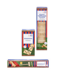 Giant Classic Wooden Games Bundle