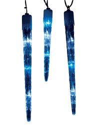 Giant Icicle Lights - White and Blue