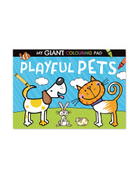 Giant Playful Pet Poster To Colour