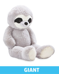 Giant Plush Grey Sloth