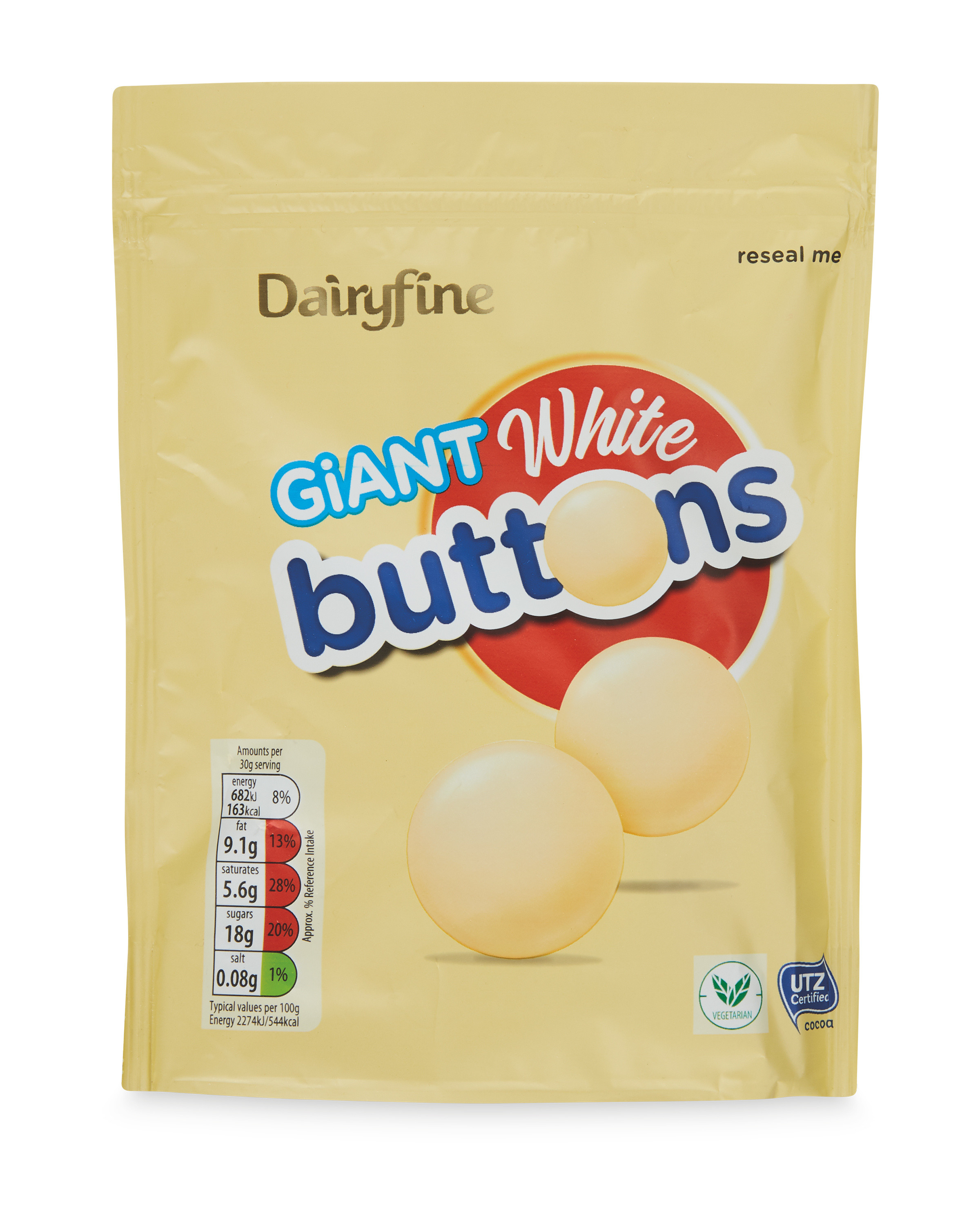 Giant White Chocolate Buttons