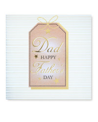 Gift Tag Father's Day Square Card