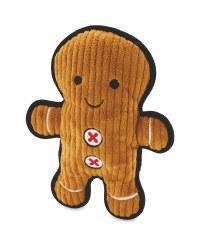 Gingerbread Man Christmas Dog Toy