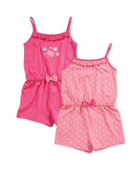 Girls' Butterfly Playsuit 2 Pack