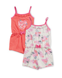 Girls' Floral Playsuit 2 Pack