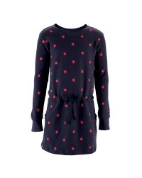 Girl's Flower Sweater Dress - Parisian Night