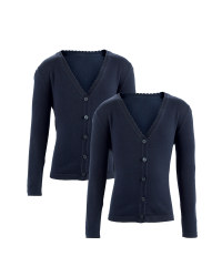 Girls' Knitted Cardigans 2 Pack - Navy