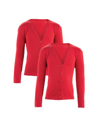 Girls' Knitted Cardigans 2 Pack - Red