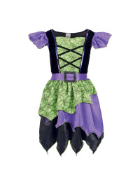 Girl's Purple Witch Dressing Up Set