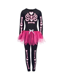 Girl's Skeleton TuTu Dressing Up Set