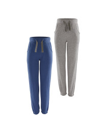 Girl's Slim Fit Joggers 2-Pack