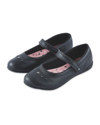 Girls' Embroidered Leather Shoes
