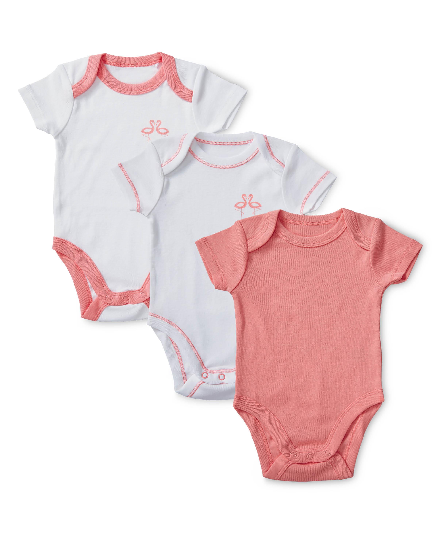 Girls' Flamingo Bodysuits 3-Pack