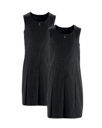 Girls' Pinafore Dresses 2 Pack - Black
