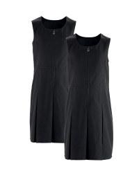 Girls' Pinafore Dresses 2 Pack - Black