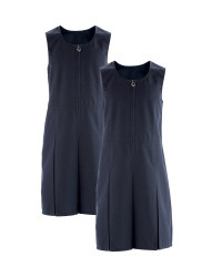 Girls' Pinafore Dresses 2 Pack - Navy