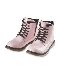 Girls' Pink Patent Leather Boots