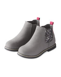 Girls Sparkle Chelsea Boots Grey