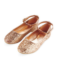 Girls Glitter Party Shoes