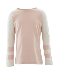 Lily & Dan Long Sleeved Blush Top