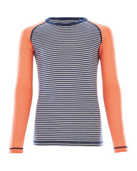 Crane Girls Long Sleeved Coral Top