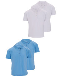 Girls Polo Shirts 2 Pack