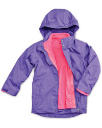 Girls Purple 3 in 1 Jacket
