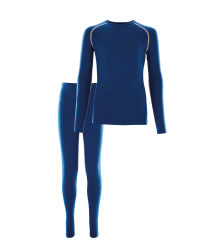 Girls Ski & Sports Base Layer Set - Blue