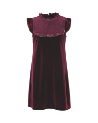 Girls Velvet Party Dress