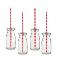 Glass Drinking Bottles - 6 Pack - Clear
