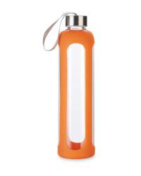 Glass Hydration Bottle - Orange