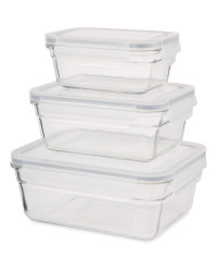 Glass Rectangular Food Storage Set