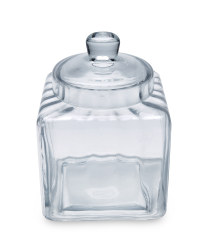 Glass Square Bon Bon Jar