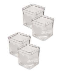 Glass Tea Lights 4 Pack