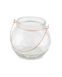 Glass Tealight Holder - Clear