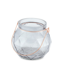 Glass Tealight Holder - Grey