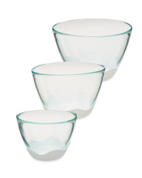 Glass White Mixing Set 3-Piece