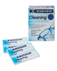 Glasses Cleaning Wipes 2 x 25 Pack