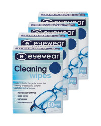 Glasses Cleaning Wipes 4 pack