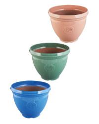 Glazed Effect Plastic Pot