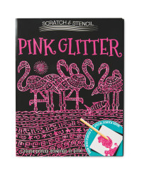 Glitter Scratch and Stencil Book