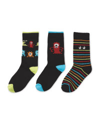 Glow In The Dark Space Kids' Socks
