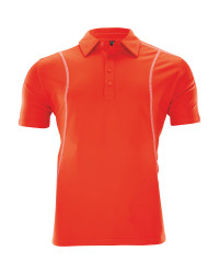 Crane Men's Golf Time Polo Shirt - Orange